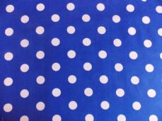 Royal Blue with 22mm White Spot 100% Cotton Fabric